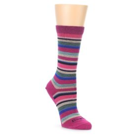 Darn Tough Women's Sassy Stripe Berry Socks