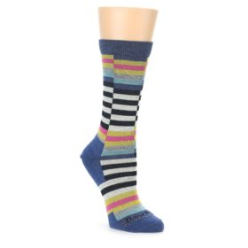 Darn Tough Women's Socks - Offset Stripe Navy