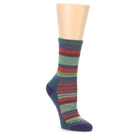 Darn Tough Women's Teal Sierra Stripe Socks