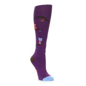 Sock it to Me Women's Purple Owl Knee High Socks