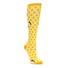 Yellow Honey Bee Knee High Socks for Women