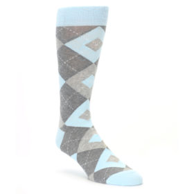 Capri Blue Argyle Wedding Socks