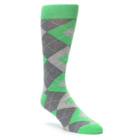 Kelly Green Argyle Wedding Socks