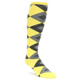 Yellow Argyle Golf Knicker Socks - Over the Calf Socks
