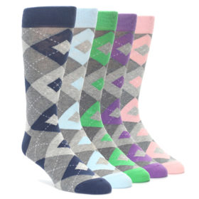 Heather Grey Argyle Sock Collection