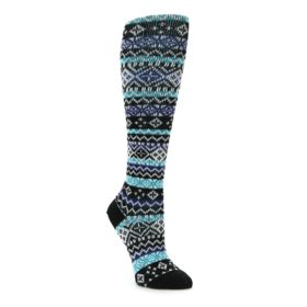 Wool Fair Isle Knee High Socks by K Bell