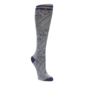 Smartwool Knee High Lingering Lace Gray Socks