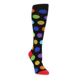Black Multi Polka Dot Knee Socks