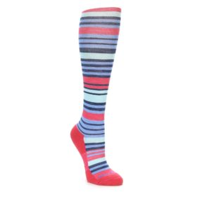 Darn Tough Women's Coral Stripe Knee Socks
