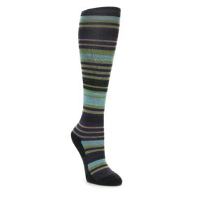 Darn Tough Women's Knee High Lime Stripe Socks