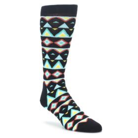 Happy Socks Temple Pattern Men's Black