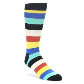 Black Yellow Blue Green Multicolor dress socks happy socks