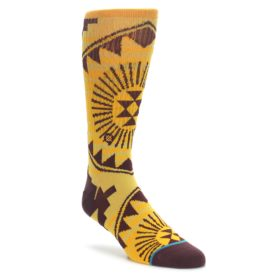 Men's Stance Casual socks in maroon and gold