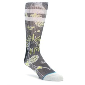 STANCE black, yellow men's dress socks