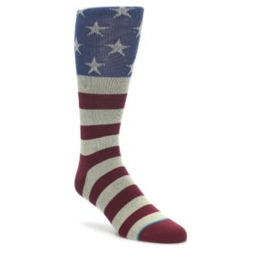 STANCE men's dress socks July 4 American flag