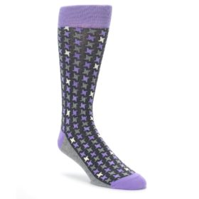 Purple Houndstooth Socks for Men by Statement Sockwear