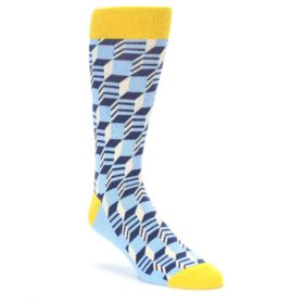 Optical Socks in Blue Yellow by Statement Sockwear