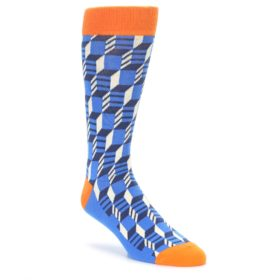 Blue Orange Filled Optical Men's Socks by Statement Sockwear
