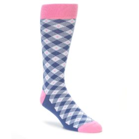 Blue and Pink Wedding Socks
