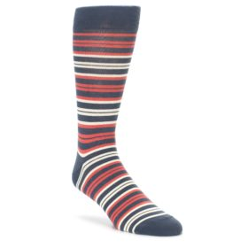 Marsala Color Men's Stripe Socks by Statement Sockwear