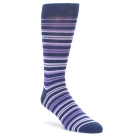 Purple Stripe Socks for Men by Statement Sockwear