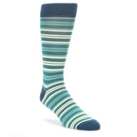 Gem Green Stripe Socks by Statement Sockwear