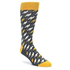 Charcoal Houndstooth Socks by Statement Sockwear