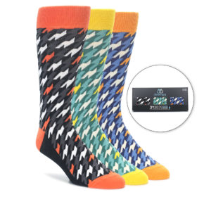 Houndstooth Socks by Statement Sockwear in 3 Pack Gift Box