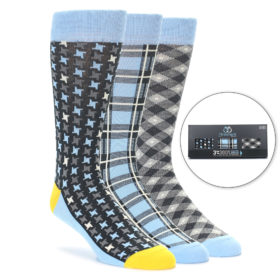Light Blue Sock Gift Box For Men by Statement Sockwear