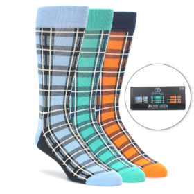 Plaid Men's Socks Gift Box 3 Pack