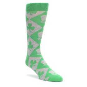 Green-Irish-St.-Patricks-Day-Mens-Dress-Socks-Statement-Sockwear