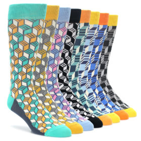 Optical Cube Pattern Sock Collection by Statement Sockwear