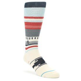 Cream-Orange-Blue-Tribal-Pattern-Mens-Casual-Socks-STANCE