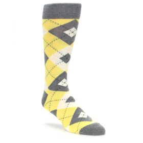 Sunbeam Yellow Argyle Wedding Groomsmen Socks