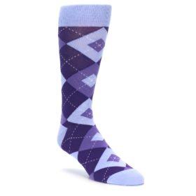 Lavender Regency Purple Argyle Wedding Socks for Groomsmen