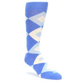 Cornflower Blue Argyle Wedding Groomsmen Socks