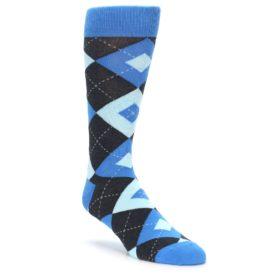Ocean Capri Blue Argyle Wedding Socks for Groomsmen