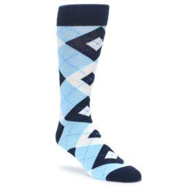 Capri and Sea Glass Blue Argyle Wedding Socks for Groomsmen