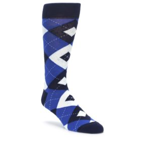 Horizon Blue Wedding Socks in Argyle for Groomsmen