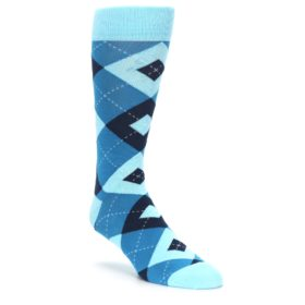 Pacific Blue Wedding Argyle Socks for Groomsmen