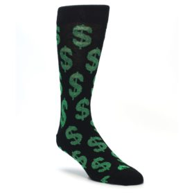 Novelty Men's Money Dollar Sign Socks