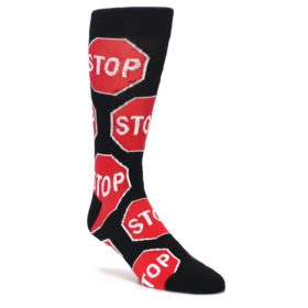 Novelty Men's Stop Sign Socks