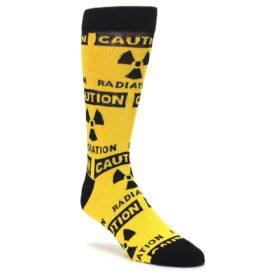 Caution Radioactive Symbol Socks for Men Novelty Socks