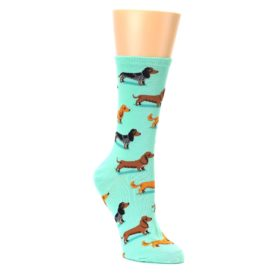 Dachshund wiener dog socks for women