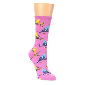 Yellow and Blue Parakeet Socks for Women'