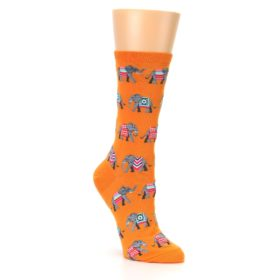 Orange Elephant Socks for Women by Hot Sox