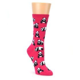 Pink Panda Bear Socks for Women
