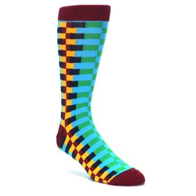 K Bell Extended Size Socks. King Size Big and Tall Socks. Extra Large Zipper Stripe Socks.