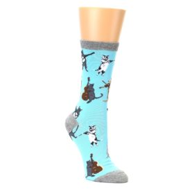 Musical Cat Socks for Women by K Bell
