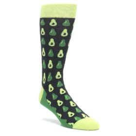 Green-Gray-Avocados-Mens-Dress-Socks-Statement-Sockwear